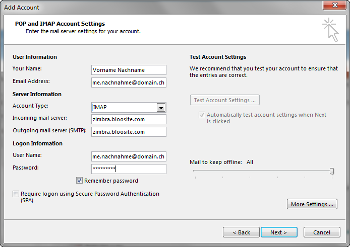 outl 3mailsetting outlook newacc